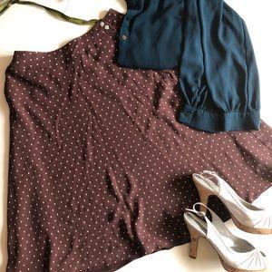 Brown Polka Dot Charter Club Skirt Size 8